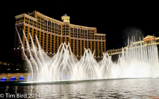 The fountain show outside the Bellagio, a spectacle repeated every 15 minutes.