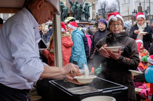 christmas porridge, senate square
